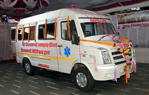 विश्वकर्मा समाज मुंबई ने शुरू किया एम्बुलेंस सेवा - 16 Mar 2018